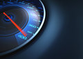 Super fast speedometer scoring high speed your text on the right side Royalty Free Stock Image
