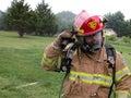 Super Fireman Royalty Free Stock Photo