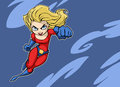 Super girl illustration of a dynamic heroine Stock Photography