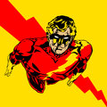Super guy flying illustration of a hero comic book retro style illustration Stock Photos