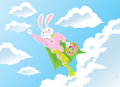 Super hero bunny Stock Image