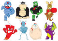 Super hero characters Vector Royalty Free Stock Photos