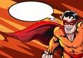 Super Hero with Empty Speech Bubble