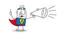 Super Hero with megaphone