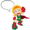 Super hero with Speech Bubble Royalty Free Stock Image