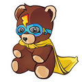 Super Hero Teddy Bear Royalty Free Stock Photo
