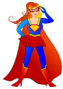 Super hero woman beautiful for illustration Royalty Free Stock Photo