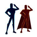 Super heroes salutes vector illustration of a hero figure Royalty Free Stock Photography