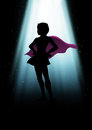 Super heroine a mysterious under the light Stock Photo
