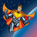 Super human flying Royalty Free Stock Photo