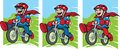 Super kid on bike Royalty Free Stock Images