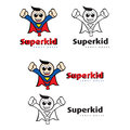 Super kid fancy dress logo design Stock Photos