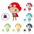 Super Kid Sticker Royalty Free Stock Photography