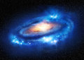 Super massive galaxy a beautiful distant illustration Stock Images
