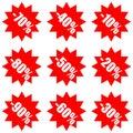 Super mega sale and discount advertising label