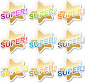 Super motivation sticker Stock Photo