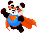 Super panda illustration of hero Stock Photo