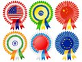 Super power rosettes Stock Photography