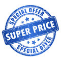 Super price vector stamp over white Royalty Free Stock Photo