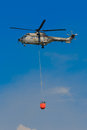 Super Puma Eurocopter AS-332M1 T-317 With Bambi Bucket Royalty Free Stock Photo
