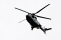 Super pumas of the german federal police no medium transport helicopter as l Stock Images