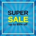 Super sale banner. Vector illustration.