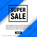 Super sale with  frame business graphics brochures design templates blue color Royalty Free Stock Photo