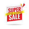 Super Sale heading design for banner or poster. Sale and discoun