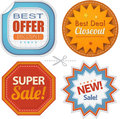 Super sales badges collection retro Royalty Free Stock Photos