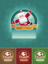 Super santa banner set. Stock Photos