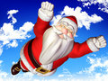 Super santa blue sky Stock Images