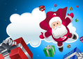 Super Santa coming! Royalty Free Stock Photos