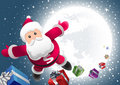 Super Santa is coming! Royalty Free Stock Image