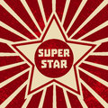 Super star banner Royalty Free Stock Photo