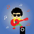 Super star cartoon music style for use Royalty Free Stock Image