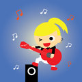 Super star cartoon music style for use Royalty Free Stock Photos