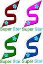 Super star logo Royalty Free Stock Photo