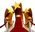 Super star stage on red carpet Royalty Free Stock Image