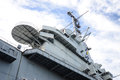 Super Structure of Aircraft Carrier Royalty Free Stock Photo