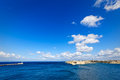 Super wide-angle of the port of Valletta, Grand Harbour Royalty Free Stock Photo