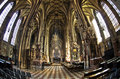 Super wide view inside of saint Stephen's cathedral at downtown of Vienna Royalty Free Stock Photo