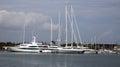 Super yachts at the marina Royalty Free Stock Photo