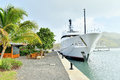 Super Yacht at the Dock / Harbor Royalty Free Stock Photo