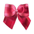Superb red bow for gifts and decorations isolated on white background vector illustration Stock Image