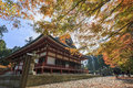 Superb view, fall color at Hieizan Enryakuji, Japan in the autum Royalty Free Stock Photo