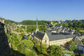 The superb view of the grund luxembourg historical beautiful and Royalty Free Stock Photos