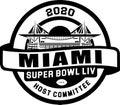 Superbowl LIV 2020 miami logo vector