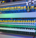 Supercomputer Network Switch and Cables Royalty Free Stock Photo
