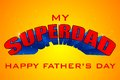 Superdad father s day background vector illustration of Royalty Free Stock Photos