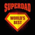 Superdad logo superhero World`s best